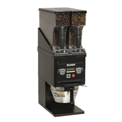 BUNN Coffee Grinder Dual 6 lbs. Removable Hopper Black Stainless