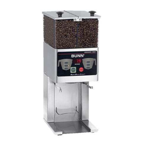 BUNN Coffee Grinder French Press Dual 3 lb. Hoppers Stainless Decor