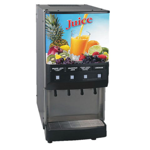 BUNN Electric Juice Dispenser 4-Flavor Three 12 oz. Drinks/Min