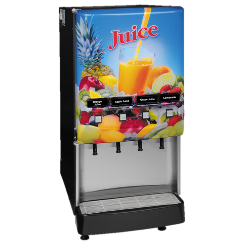 BUNN Electric Juice Dispenser 4-Flavor LED Door Lock