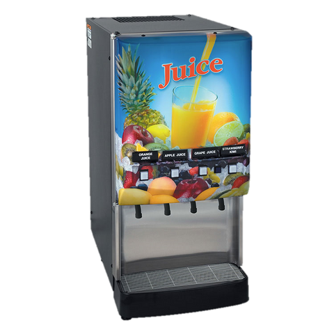 BUNN Electric Juice Dispenser 4-Flavor LED Cold Water Dispense