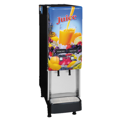 BUNN Electric Juice Dispenser 2-Flavor 8 lb. Ice Bank LED