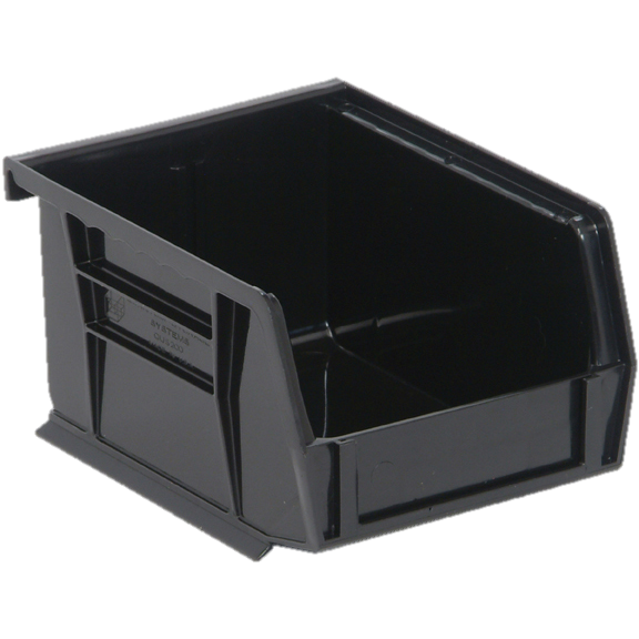 "Quantum FoodService Shelf Bin 5"" Black"