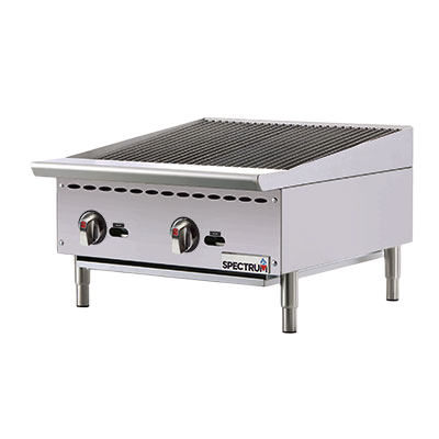 "Spectrum Charbroiler Countertop Natural Gas Stainless Steel 24""W x 34-7/16""D"