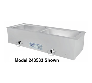 "Duke Slimline Food Well 24-1/4""W x 16.38""D x 12.75""H Stainless Steel Top Steel Exterior With Operator's Rail"