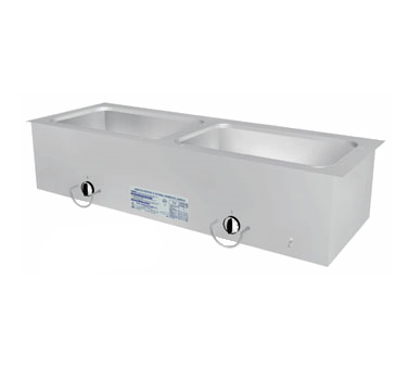 "Duke Slimline Food Well 46-1/4""W x 16.38""D x 12.75""H Stainless Steel Top Steel Exterior With Operator's Rail"