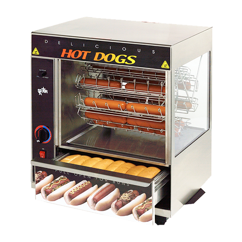 superior-equipment-supply - Star Manufacturimg - Star Stainless Steel Broil-O-Dog Hot Dog Broiler 36 Dogs & 32 Buns Capacity