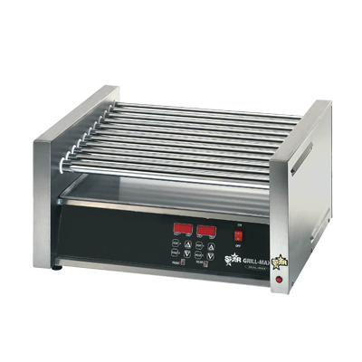 superior-equipment-supply - Star Manufacturing - Star Stainless Steel Electronic Controls Hot Dog Grill With 30 Hot Dogs Capacity