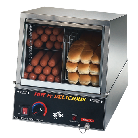 superior-equipment-supply - Star Manufacturimg - Star Hot Dog Steamer with Juice Tray 170 Hot Dog Capacity 18 Buns