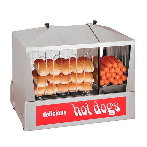 superior-equipment-supply - Star Manufacturimg - Star Hot Dog Steamer with Juice Tray 130 Hot Dog Capacity & 40 Buns 6 Qt. Water Capacity