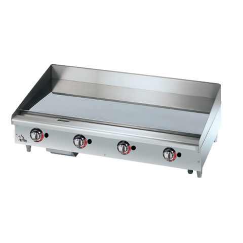 "Star-Max® Heavy Duty Griddle Gas Countertop 48"" W x 21"" D Stainless Steel"