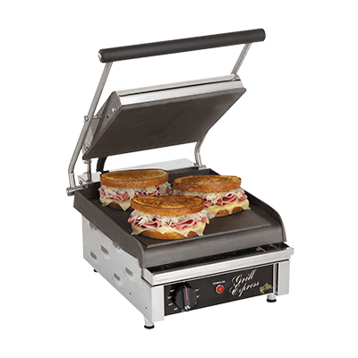 "superior-equipment-supply - Star Manufacturimg - Star Electric Two-Sided Sandwich Grill Smooth Iron Grill Plates 10"" Wide Cooking Surface"
