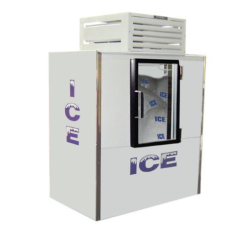 "superior-equipment-supply - Fogel Inc - Fogel White Indoor Bagged Ice Merchandiser One Glass Hinged Door 56"" Wide"