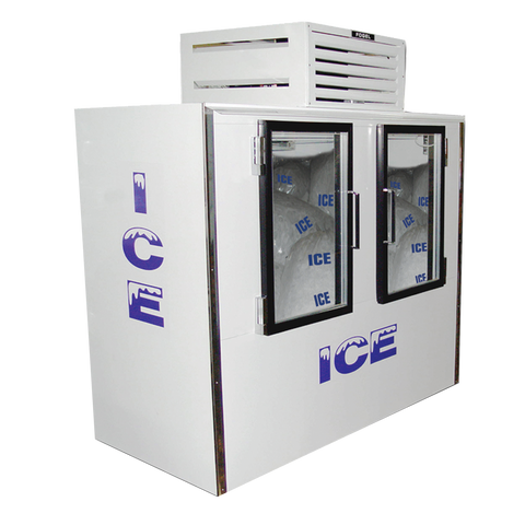 "superior-equipment-supply - Fogel Inc - Fogel White Indoor Bagged Ice Merchandiser Two Glass Hinged Door 76"" Wide"