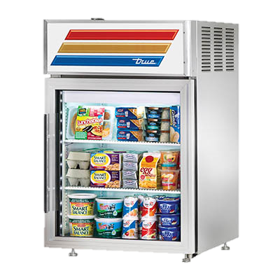 superior-equipment-supply - True Food Service Equipment - True One Section Stainless Steel Exterior Countertop Reach-In Refrigerated Display Case