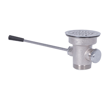 "BK Resources Lever Waste, Fits 3-1/2"" opening, Stainless Steel Strainer"