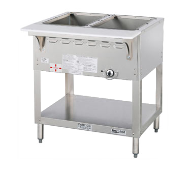 "Duke Aerohot Steamtable Wet Bath Holds (2) Pans 30.38""W x 22.44""D x 34""H Stainless Steel With Carving Board"