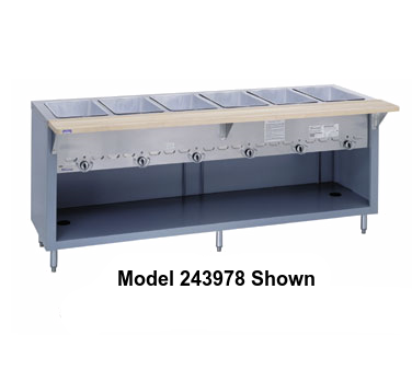 "Duke Thurmaduke™ Steamtable Gas Unit 46""W x 36""H x 25.5""D Stainless Steel With Adjusable Feet"