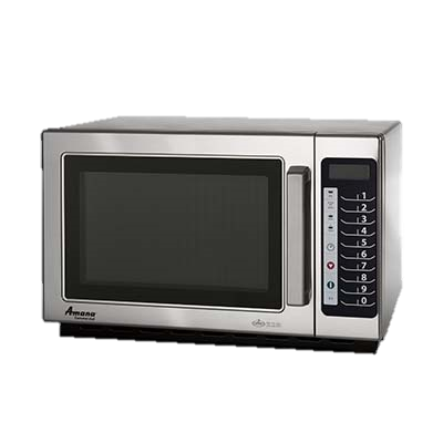 "superior-equipment-supply - Amana Commercial Products - Amana Stainless Steel 22"" Wide Braille Microwave Oven"