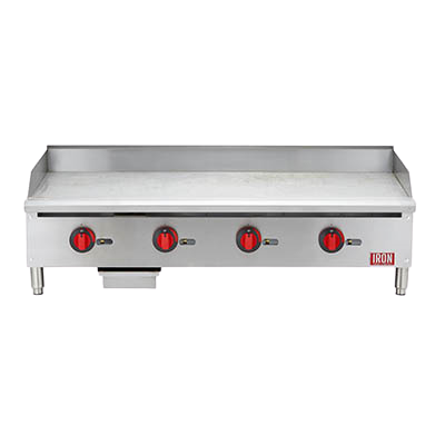 "Iron Range 48""W Countertop Griddle Natural Gas Stainless Steel"