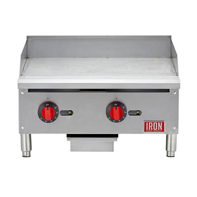 "Iron Range 24""W Countertop Griddle Natural Gas Stainless Steel"