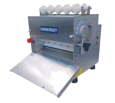 "Somerset Compact Design 11"" Synthetic Rollers Dough Sheeter"