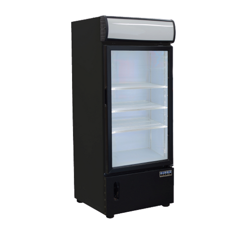 Ojeda Freezer Merchandiser 7.8 cu. ft Capacity Black Galvanized Metal Exterior
