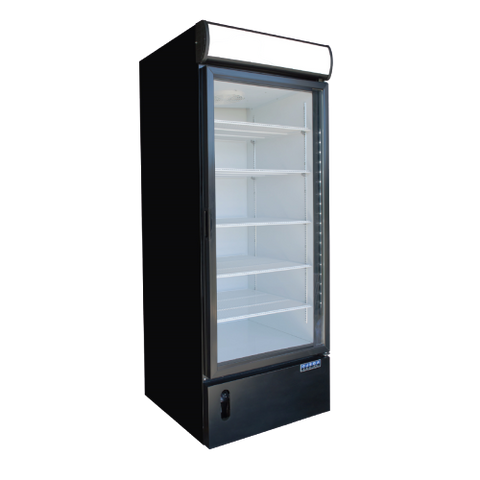 Ojeda Freezer Merchandiser 19.8 cu. ft Capacity Black Galvanized Metal Exterior