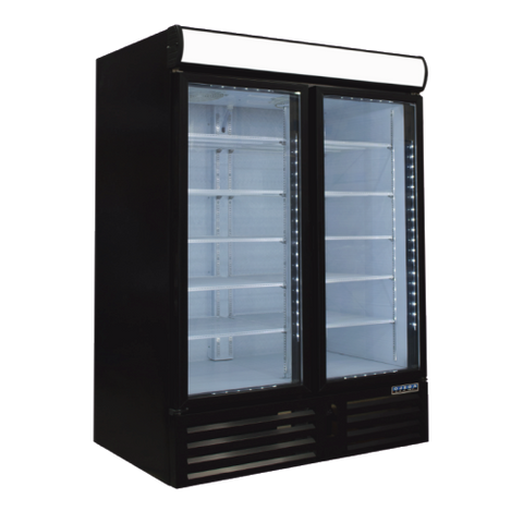 Ojeda Refridgerated Merchandiser 40 ft. Capacity Powder Coated Steel Exterior