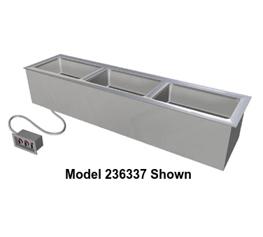 "Duke Slimline Food Well 24-1/4""W x 17.25""D x 12.75""H Stainless Steel Top Steel Exterior Housing With Remote Control Panel"