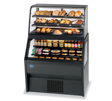 "superior-equipment-supply - Federal Industries - Federal Industries Specialty Display Hybrid Merchandiser, 72""W x 39""D x 70""H, Black Laminated Exterior With Black Trim"