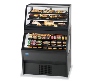 "superior-equipment-supply - Federal Industries - Federal Industries Specialty Display Hybrid Merchandiser Refrigerated, 72""W x 43""D x 72""H, Black Laminated Exterior With Black Trim"