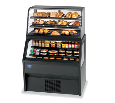 "superior-equipment-supply - Federal Industries - Federal Industries Specialty Display Hybrid Merchandiser Refrigerated Self-Serve, 36""W x 39""D x 70""H, Black Laminated Exterior With Black Trim"