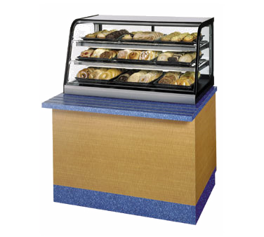 "superior-equipment-supply - Federal Industries - Federal Industries Counter Top Non-Refrigerated Self-Serve Merchandiser, 48""W x 30""D x 25""H, Black Painted Metal & Stainless Steel"