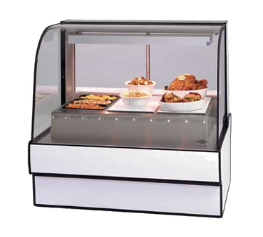"superior-equipment-supply - Federal Industries - Federal Industries Curved Glass Hot Deli Case, 50""W x 35""D x 48""H, Choice Of Laminate, Black Trim,"