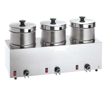 superior-equipment-supply - Server Products - Server Products Stainless Steel Triple 5 Quart Food Server