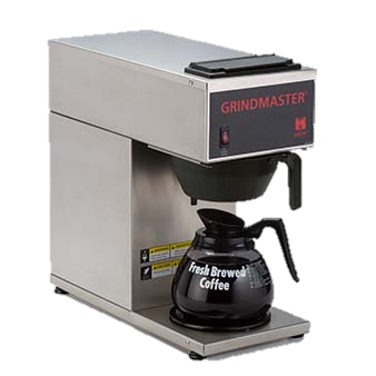 Grindmaster Cecilware Stainless Steel Single Pourover Coffee Brewer With One Bottom Warmer 1.2 Gallon Tank Capacity