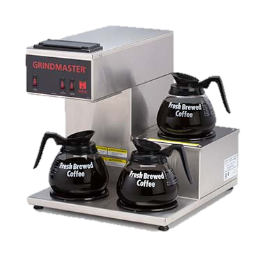 superior-equipment-supply - Grindmaster Cecilware - Grindmaster Cecilware Stainless Steel Electric Single Pourover Coffee Brewer With One Right Top One Bottom & One Right Bottom Warmer