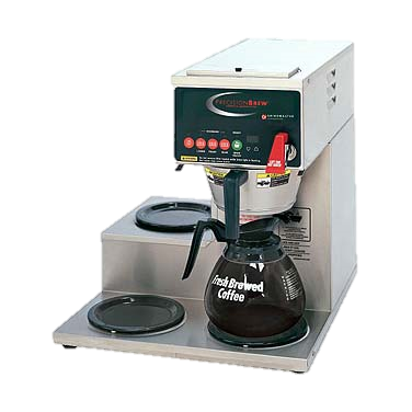 superior-equipment-supply - Grindmaster Cecilware - Grindmaster Cecilware Stainless Steel Electric Single Automatic Coffee Brewer With One Bottom & Two Left Warmers