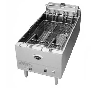 Wells Stainless Steel Single 40 lb. Capacity Electric Countertop Fryer
