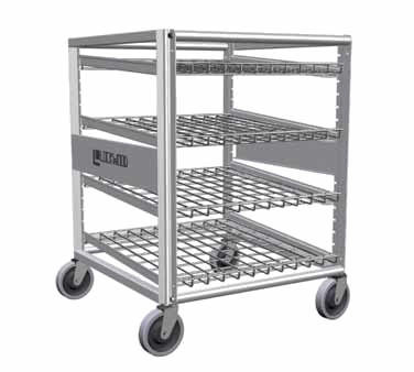 Lockwood Aluminum Frame 60 Can Capacity Half Height Can Storage Rack