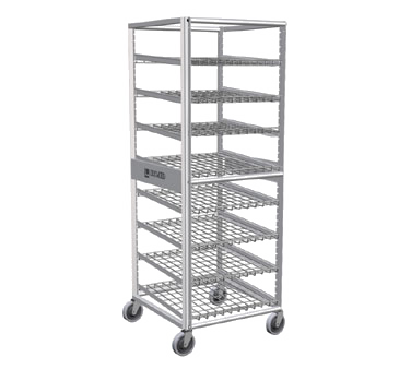 Lockwood Aluminum 120 Can Capacity Full Height Rack-Can Storage