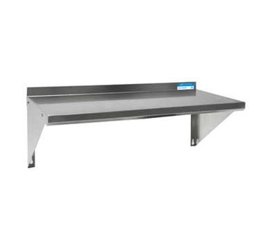 "BK Resources Premiuim Shelf Wall-Mounted, 48""W x 16""D, Stainless Steel"
