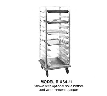 "superior-equipment-supply - Piper Products - Piper Mobile Aluminum Pan Rack Full Height 26"" Wide"