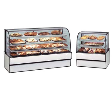 "superior-equipment-supply - Federal Industries - Federal Industries Curved Glass Non-Refrigerated Bakery Case, 77""W x 35""D x 42""H, Choice of Laminate With Black Trim"