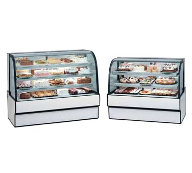"superior-equipment-supply - Federal Industries - Federal Industries Curved Glass Refrigerated Bakery Case, 50""W x 35""D x 42""H, Choice of Laminate With Black Trim"