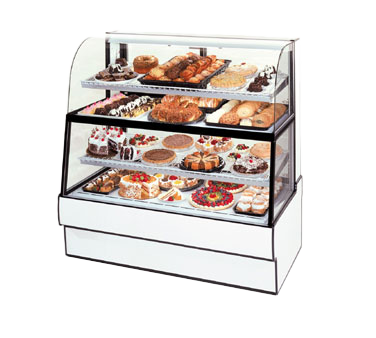 "superior-equipment-supply - Federal Industries - Federal Industries Curved Glass Horizontal Dual Zone Bakery Case Refrigerated Bottom Non-Refrigerated Top, 50""W x 35""D x 60""H, Choice of Laminate"