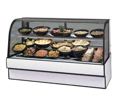 "superior-equipment-supply - Federal Industries - Federal Industries Curved Glass Refrigerated Deli Case, 77""W x 35""D x 48""H, Choice of Laminate with Black Trim"