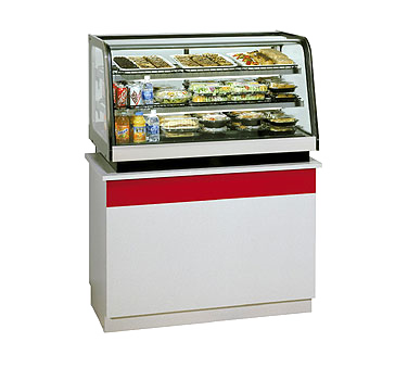 "superior-equipment-supply - Federal Industries - Federal Industries Counter Top Refrigerated Rear Mount Merchandiser, 48""W x 30""D x 28""H, Black Painted Metal & Stainless Construction"