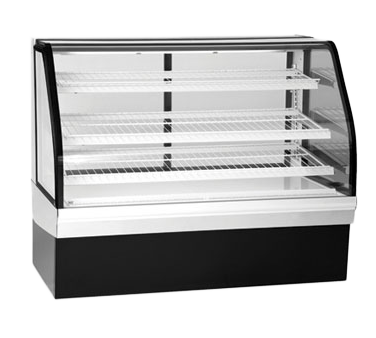 "superior-equipment-supply - Federal Industries - Federal Industries Non-Refrigerated Bakery Case, 50""W x 35""D x 48""H, Stainless Steel Top & Sides Black Base"